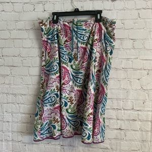 The Limited Paisley Lined Drawstring Skirt